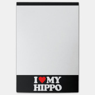 I LOVE MY HIPPO POST-IT® NOTES