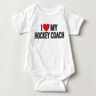 I Love My Hockey Coach Baby Bodysuit