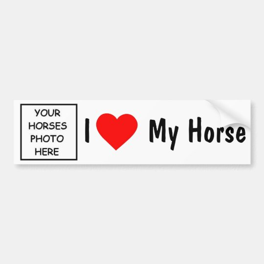I Love My Horse Bumper Sticker