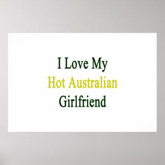 I Love My Hot Australian Girlfriend Poster