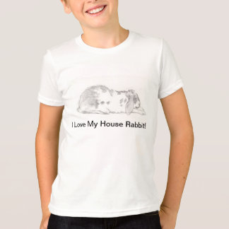 I Love My House Rabbit T T-Shirt