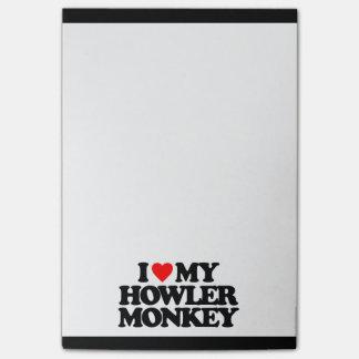 I LOVE MY HOWLER MONKEY POST-IT® NOTES