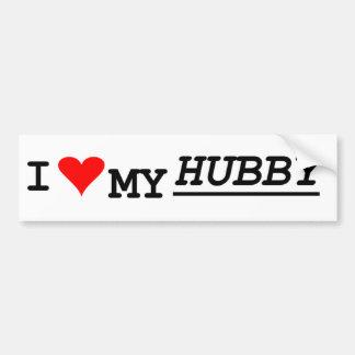 i love my hubby bumper sticker