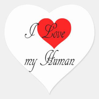 I love my Human Heart Sticker