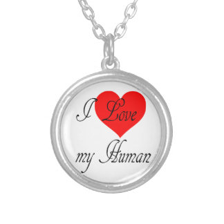 I love my Human Silver Plated Necklace