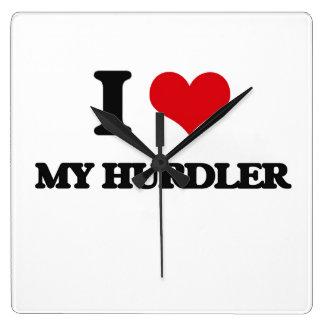 I Love My Hurdler Wallclock