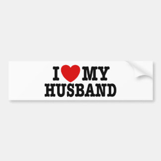 I Love My Husband Bumper Sticker