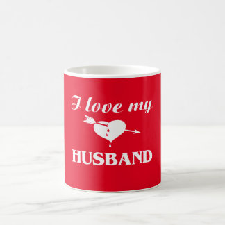 I love my husband classic white coffee mug