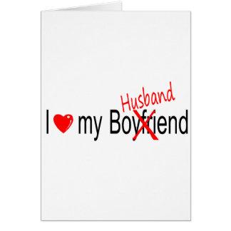 I Love My Husband Greeting Card