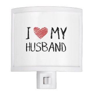 I Love My Husband Night Light