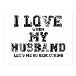 I Love My Husband! Postcard