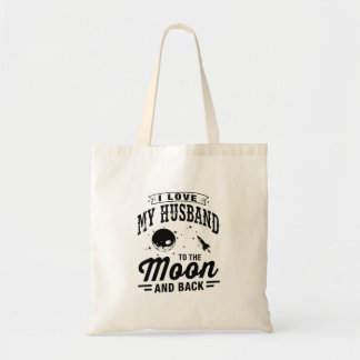 I Love My Husband To The Moon And Back Tote Bag