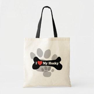 I Love My Husky  - Dog Bone