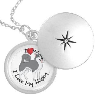 I Love My Husky Dog Locket Necklace