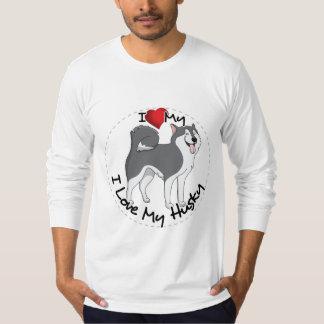 I Love My Husky Dog T-Shirt