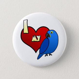 I Love my Hyacinth Macaw 2 Inch Round Button