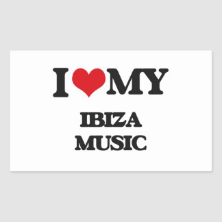I Love My IBIZA MUSIC Sticker
