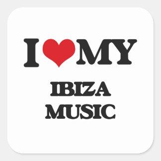 I Love My IBIZA MUSIC Stickers