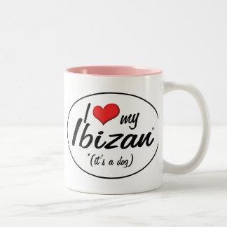 I Love My Ibizan (It's a Dog) Two-Tone Coffee Mug