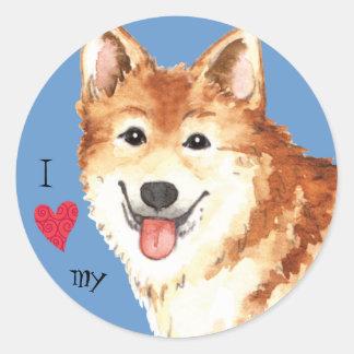 I Love my Icelandic Sheepdog Round Sticker