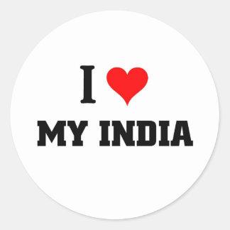 I love my India Classic Round Sticker