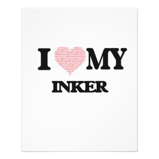 I love my Inker (Heart Made from Words) Flyer