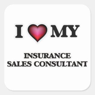 I love my Insurance Sales Consultant Square Sticker