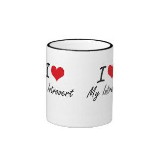 I Love My Introvert Ringer Coffee Mug