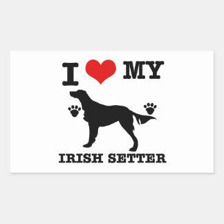 I Love my irish setter Sticker