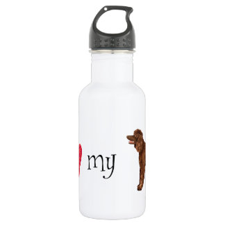 I Love my Irish Water Spaniel 532 Ml Water Bottle