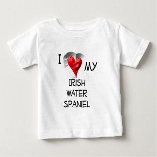 I Love My Irish Water Spaniel Baby T-Shirt