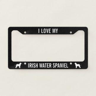 I Love My Irish Water Spaniel - Custom Text License Plate Frame