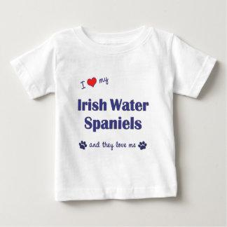 I Love My Irish Water Spaniels (Multiple Dogs) Baby T-Shirt