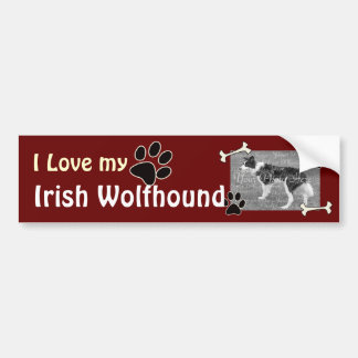 I love my Irish Wolfhound Bumper Sticker