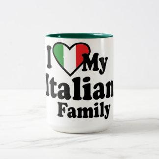 I Love My Italian Family Two-Tone Coffee Mug