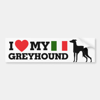 I love my Italian Greyhound Bumper Sticker