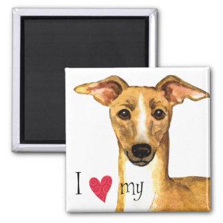 I Love my Italian Greyhound Magnet