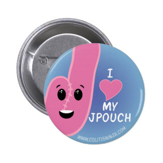 I Love My J-Pouch 2 Inch Round Button