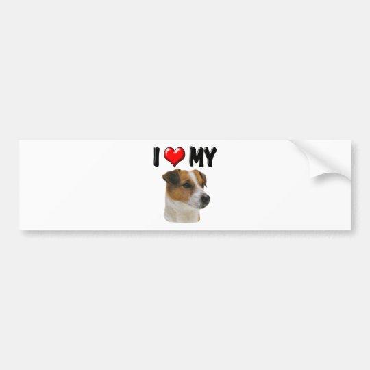 I Love My Jack Russell Bumper Sticker