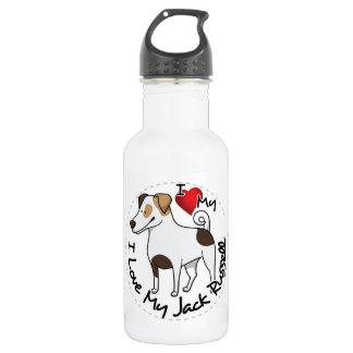 I Love My Jack Russell Dog 532 Ml Water Bottle
