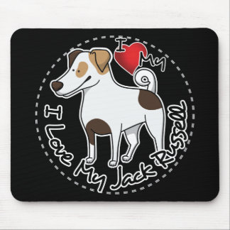 I Love My Jack Russell Dog Mouse Pad
