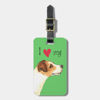 I Love my Jack Russell Terrier Luggage Tag