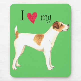I Love my Jack Russell Terrier Mouse Pad