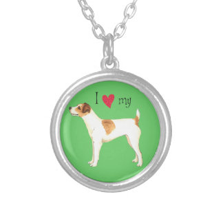 I Love my Jack Russell Terrier Silver Plated Necklace