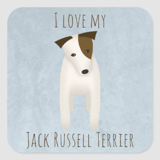 I love my Jack Russell Terrier Square Sticker