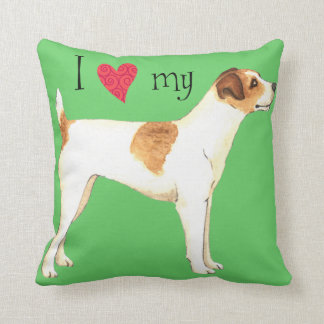 I Love my Jack Russell Terrier Throw Pillow