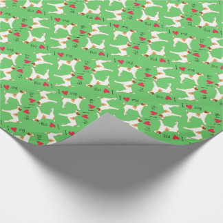 I Love my Jack Russell Terrier Wrapping Paper