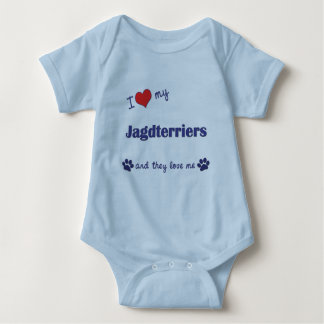 I Love My Jagdterriers (Multiple Dogs) Baby Bodysuit