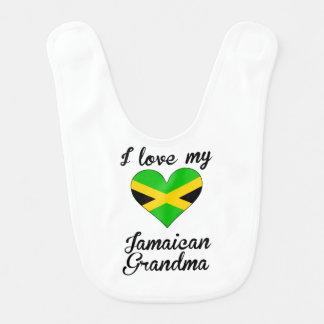 I Love My Jamaican Grandma Baby Bibs