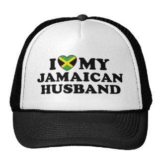 I Love My Jamaican Husband Trucker Hat